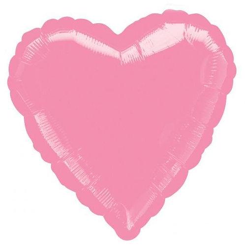 "18"" pink heart mylar balloon"