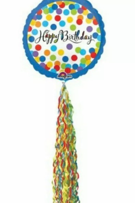 Happy Birthday Streamer Balloon (193)