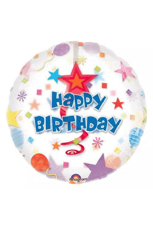 "32"" Happy Birthday Swirl Insider Dangler (163)"
