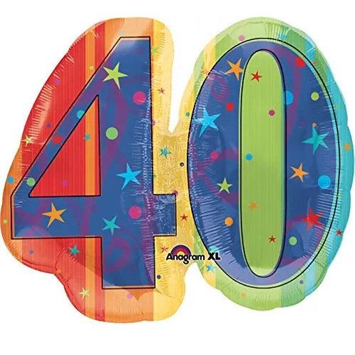 "29"" 40th Mylar Balloon"