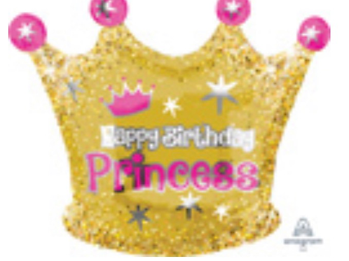 "Princess Crown 20"" Mylar"