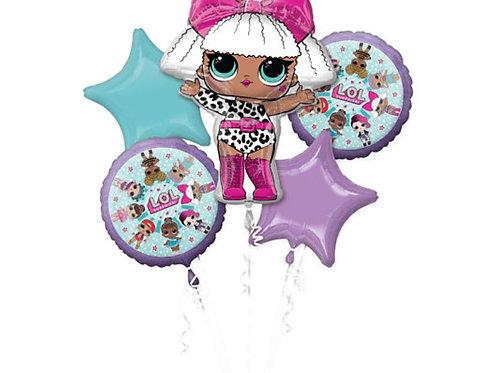 L.O.L Doll Balloon Bouquet 5pc