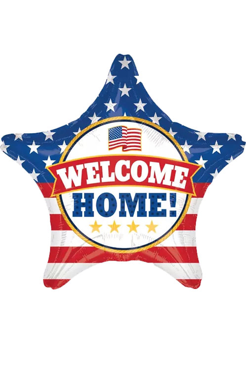 "Welcome Home USA Star 28"" Mylar 173"
