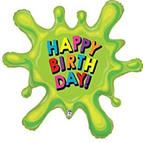Slime Happy Birthday Balloon