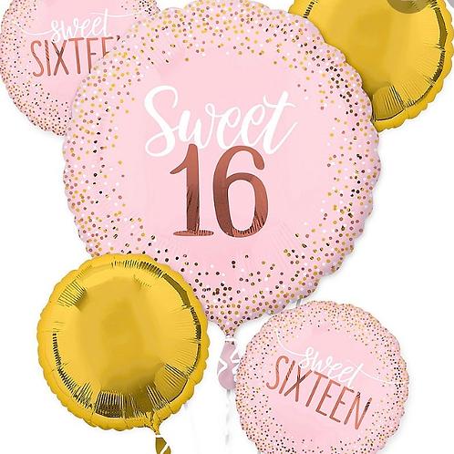 Sweet Sixteen Balloon Bouquet (255)