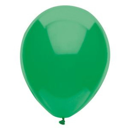 "12"" Festive Green Latex Balloon"