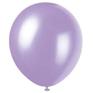 "12"" Pearlized Lavender Latex Balloon"