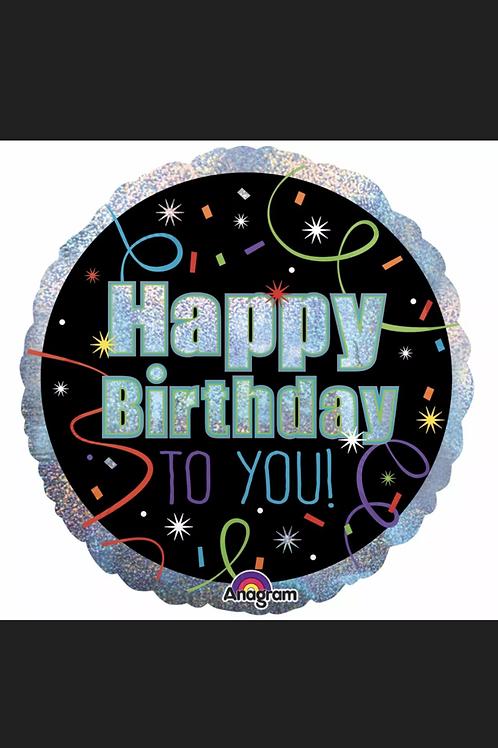 """Happy Birthday To You 18"""" Mylar (287)"""