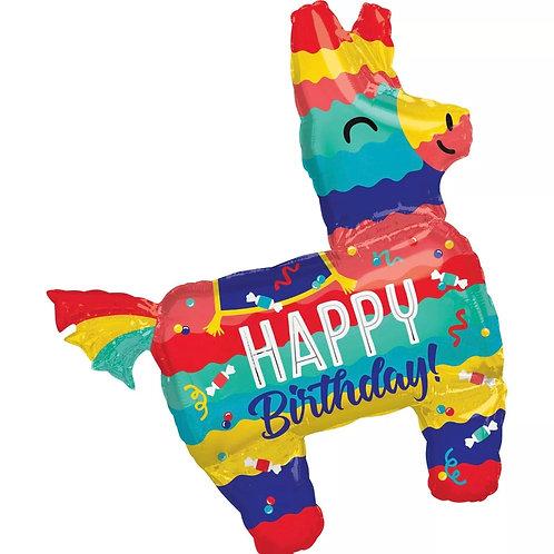 """Happy Birthday Pinata 33"""" Mylar(297)"""
