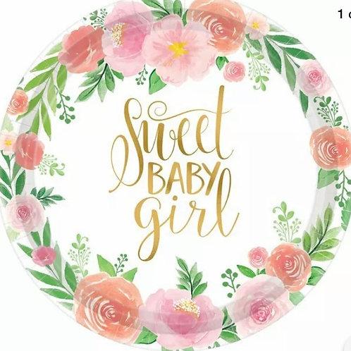 Baby Girl Floral Balloon