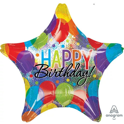 "28"" Bash Birthday Star Mylar Balloon 027"