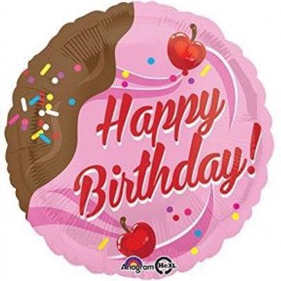 "Happy Birthday Ice Cream 18"" Mylar"