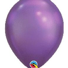 12 Chrome Purple Latex Balloons