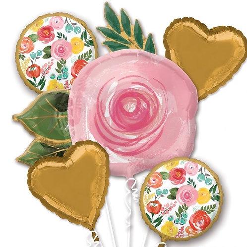 Bright Flower Balloon Bouquet (344)