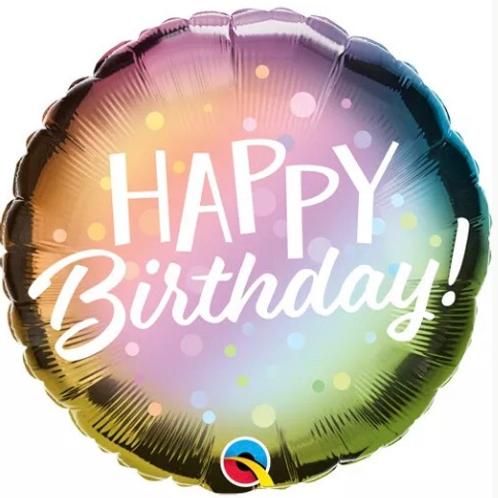 Happy Birthday Metallic Ombre 282
