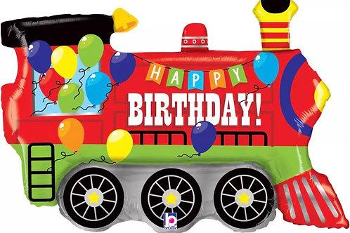 Happy Birthday Train Balloon