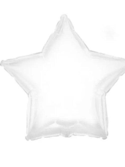 """18"""" White Star Balloon"""