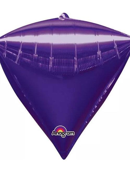 Purple Diamond Mylar Balloon