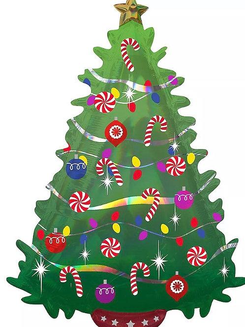"Christmas Tree Mylar 36"" Mylar"