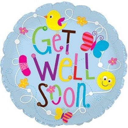 "Get Well Soon 29"" Mylar (336)"