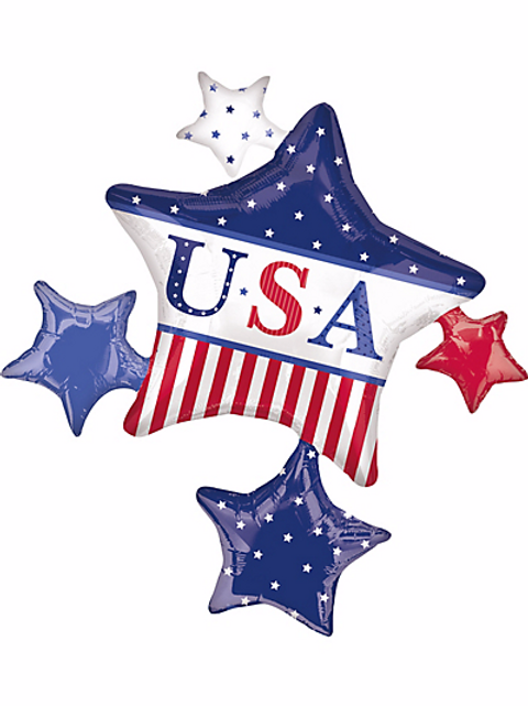 Foil Cluster American Classic Star Balloon