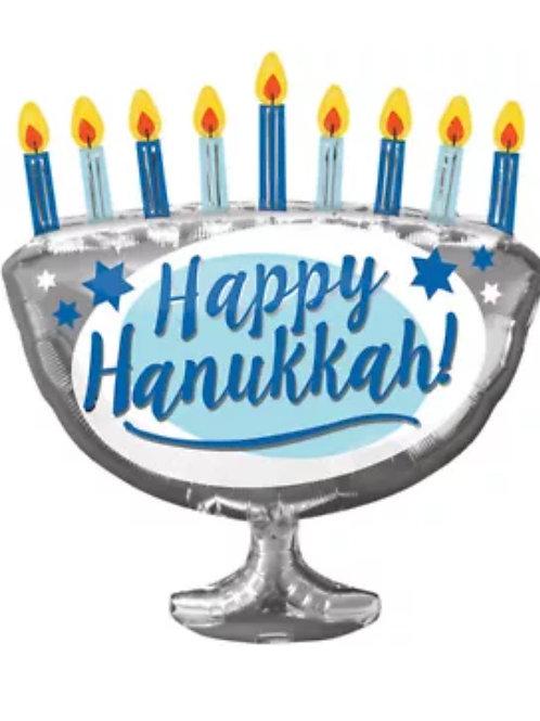 """33"""" Happy Hanukkah Mylar Balloon"""
