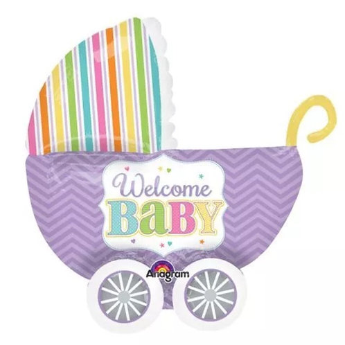 Welcome Baby Balloon (carriage)