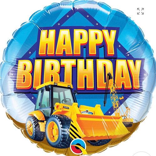 Happy Birthday Construction Zone Balloon