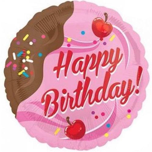 Happy Birthday Cherry Balloon