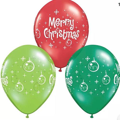 """Christmas 12"""" Latex Balloon"""