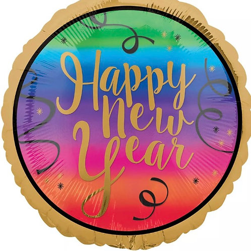 """Colorful New Year 18"""" Mylar"""