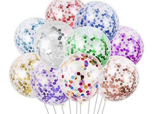 10pc Confetti Balloon Bouquet