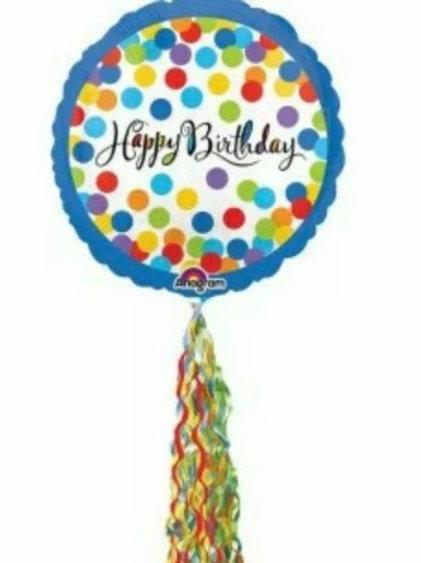 Happy Birthday Streamer Balloon (193)