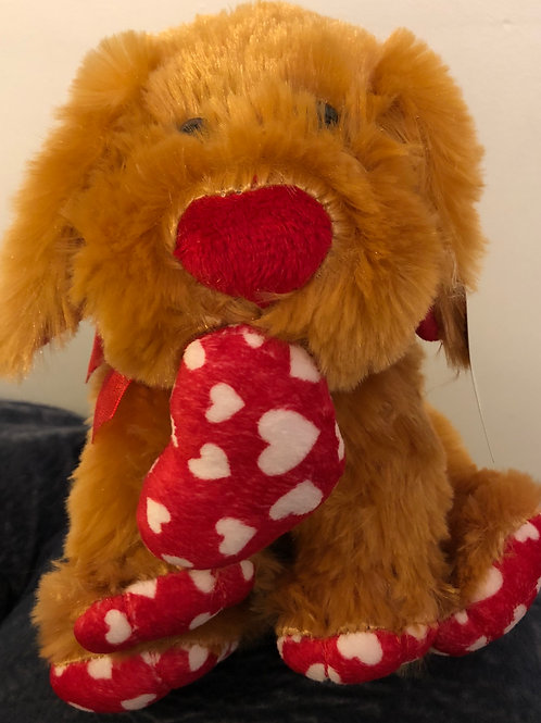"""8"""" Brown bear with heart"""