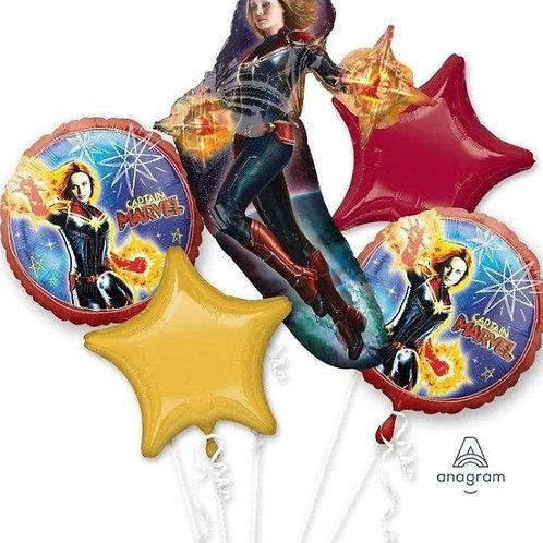 Captain Marvel Mylar Balloon Bouquet