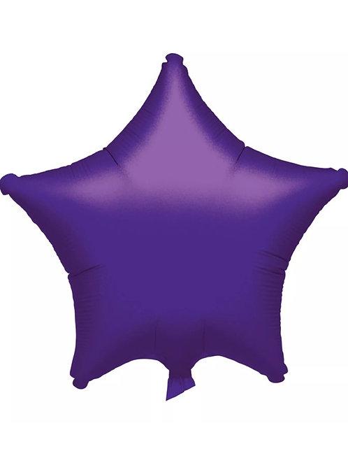 """18"""" Purple Star Balloon"""