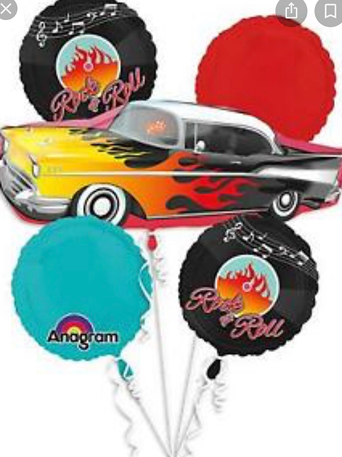 50s Rock and Roll Balloon bouquet (242)