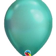 """12"""" Chrome Green Latex Balloon"""