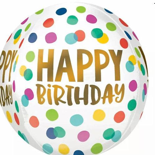 Happy Birthday Dots Orb (290)