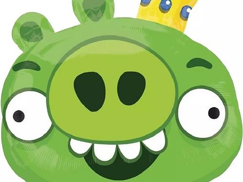 Green King Pig Angry Birds Balloon