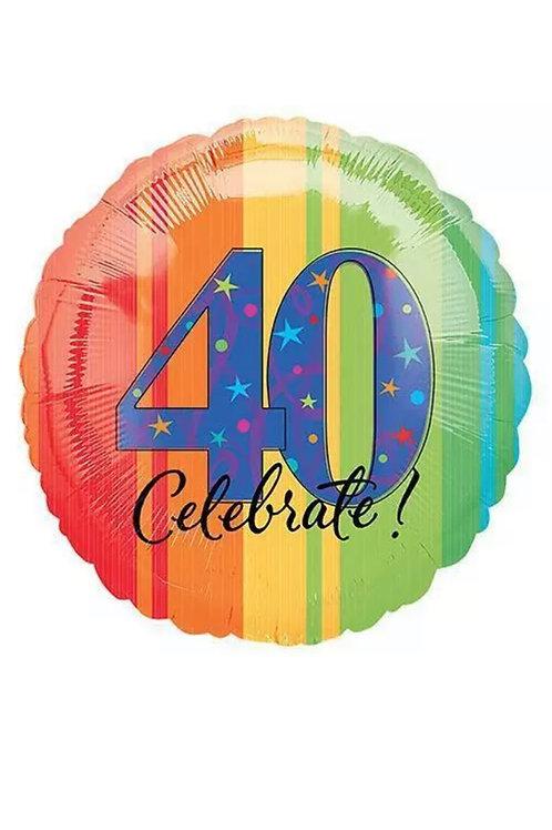 "40 Celebrate! 18"" Mylar 190"