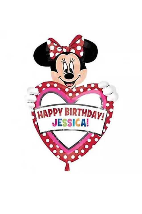 """24"""" Personalize It Minnie Mouse Happy Birthday (166)"""