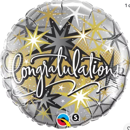 "18"" Congrats Mylar Balloon"