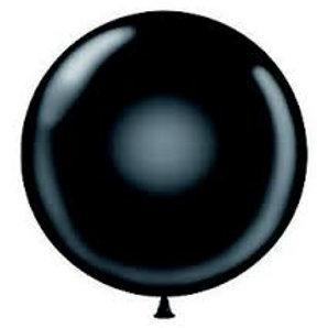 "24"" Black Latex Balloon"