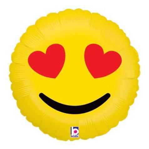 "Emoji Hearts 18""  Mylar"
