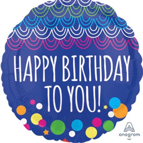 """Happy Birthday To You 18"""" Mylar (268)"""