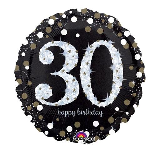 "32"" 30th Mylar Balloon 122"