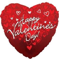 """18"""" Happy Valentines Heart Shaped Balloon"""