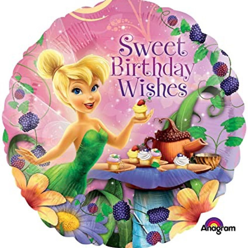 "Tinker Bell Seeet Birthday Wishes 17"" Mylar"