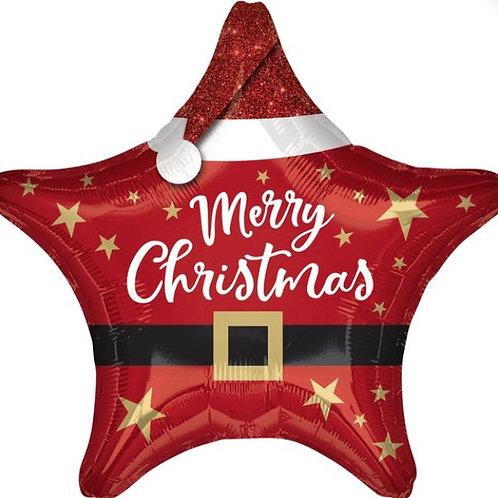 "Christmas Star 18"" Mylar"